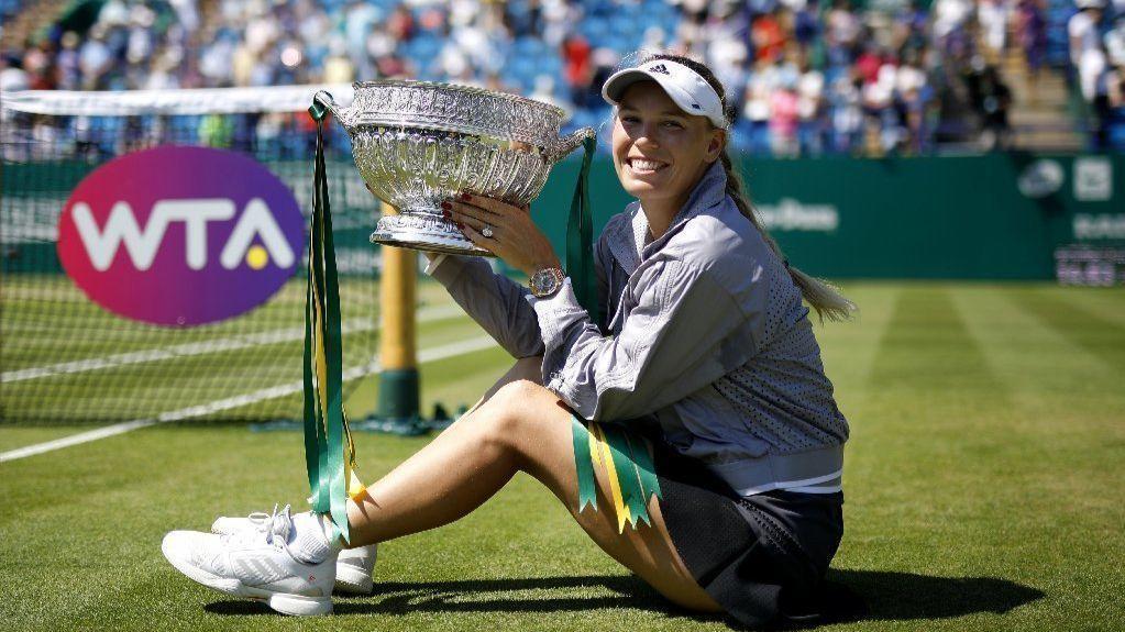 Tennis: Caroline Wozniacki wins Eastbourne title in straight sets