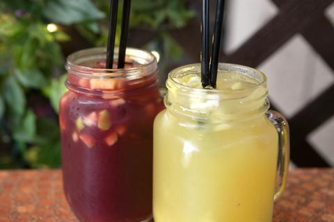 Boozy sangria on the  Weber Grill Summer Happy Hour menu.