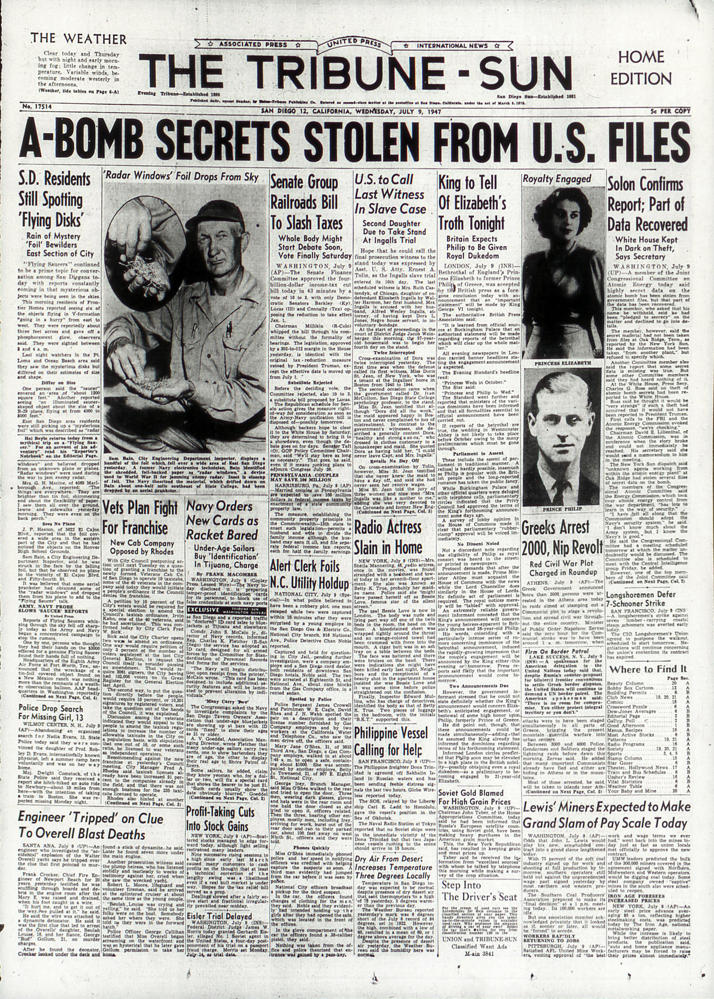 July 9, 1947: Summer of flying saucers