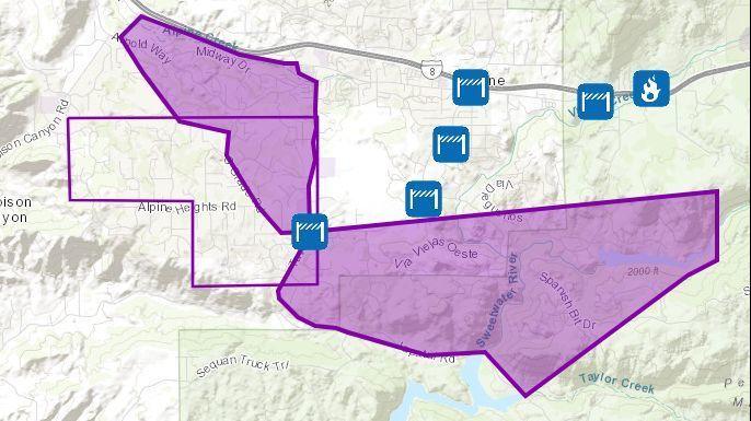 Live Updates San Diego County Fires In Alpine Dulzura Camp