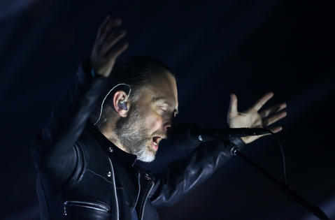 Thom Yorke leads Radiohead at the United Center in Chicago on July 6, 2018.