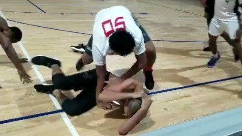 AAU basketball game turns into brawl as players, refs trade punches