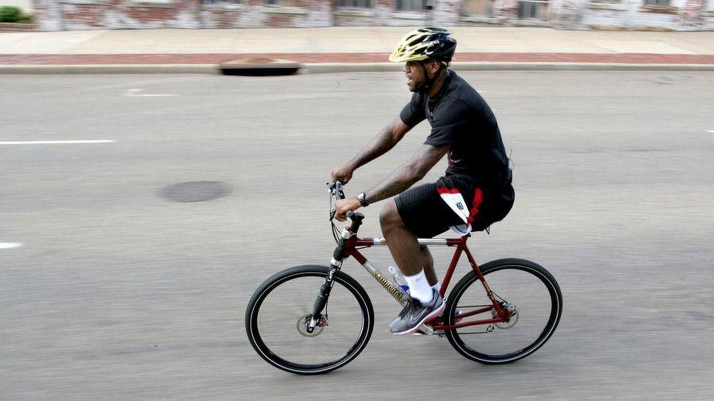 LeBron James likes to bike to work. We tested his route — and it's dangerous