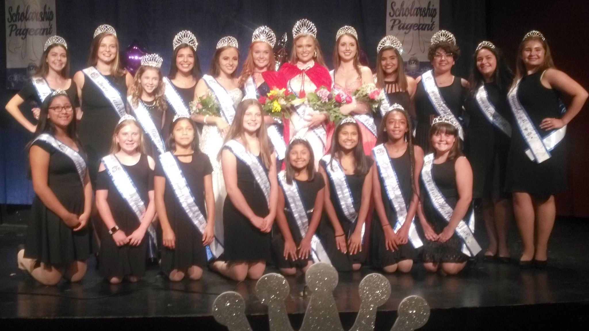Royalty from throughout the region join winners of the 2018 Miss Ramona Scholarship Pageant and Teen Miss Ramona Pageant.