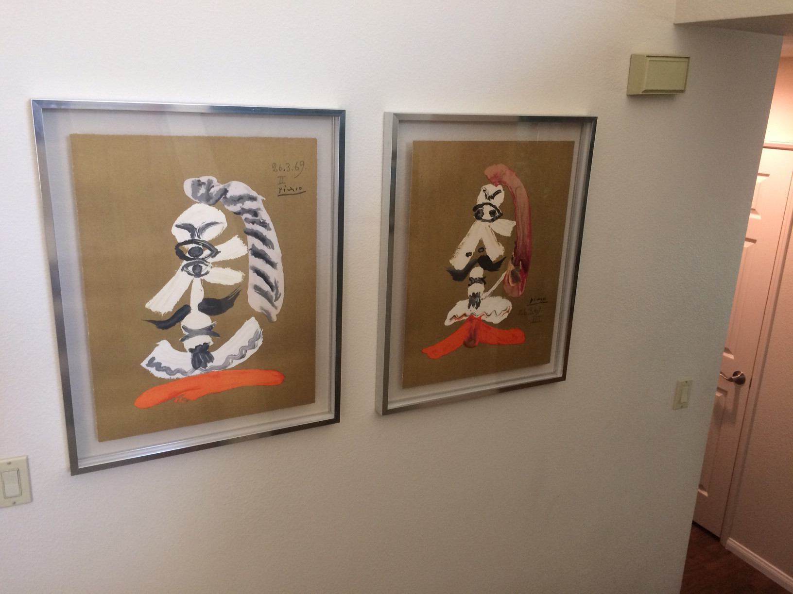 Picassos hang in Bill Dwyre's home