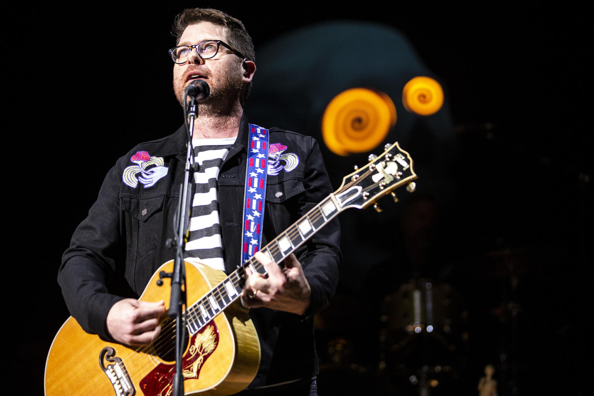 Colin Meloy of the Decemberists during a performance at the Red Rocks Amphitheater.