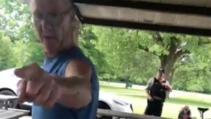 Video shows a Forest Preserves officer standing by while woman is harassed