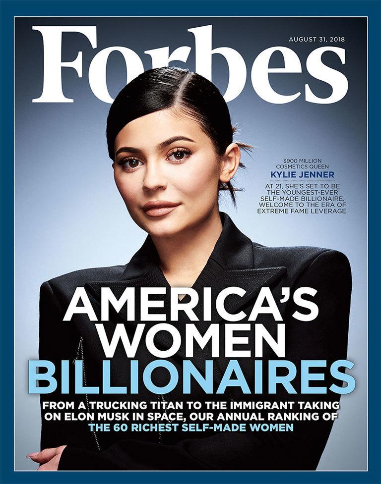 Kylie Jenner ist auf dem Forbes-Cover zu sehen.&quot; Title = &quot;Kylie Jenner (19459007) Kylie Jenner ist auf dem Forbes Cover zu sehen. <span class=