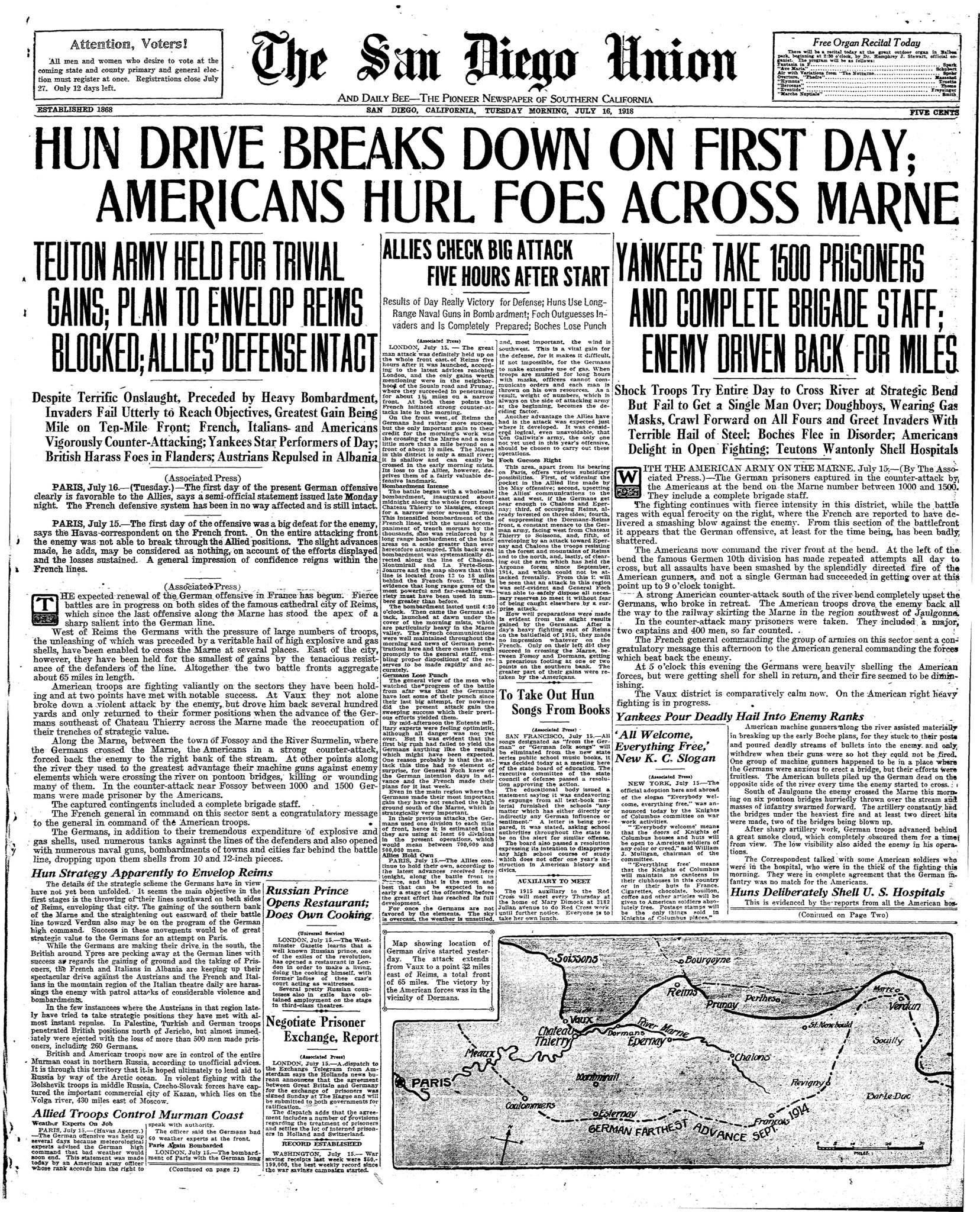 July 16, 1918