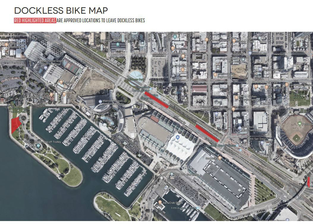 Dockless bike map