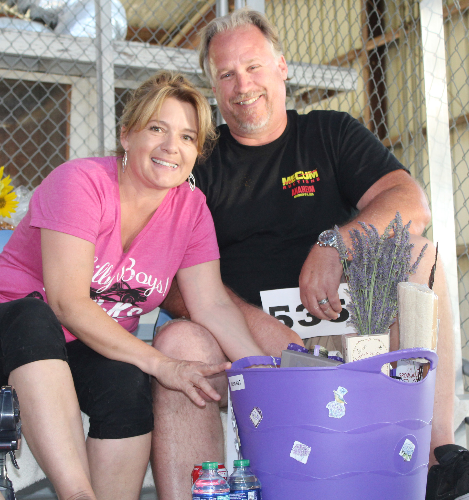 Sheila and Rich Swafford bid $590 for Ramona Stars 4-H's Lavender Basket.