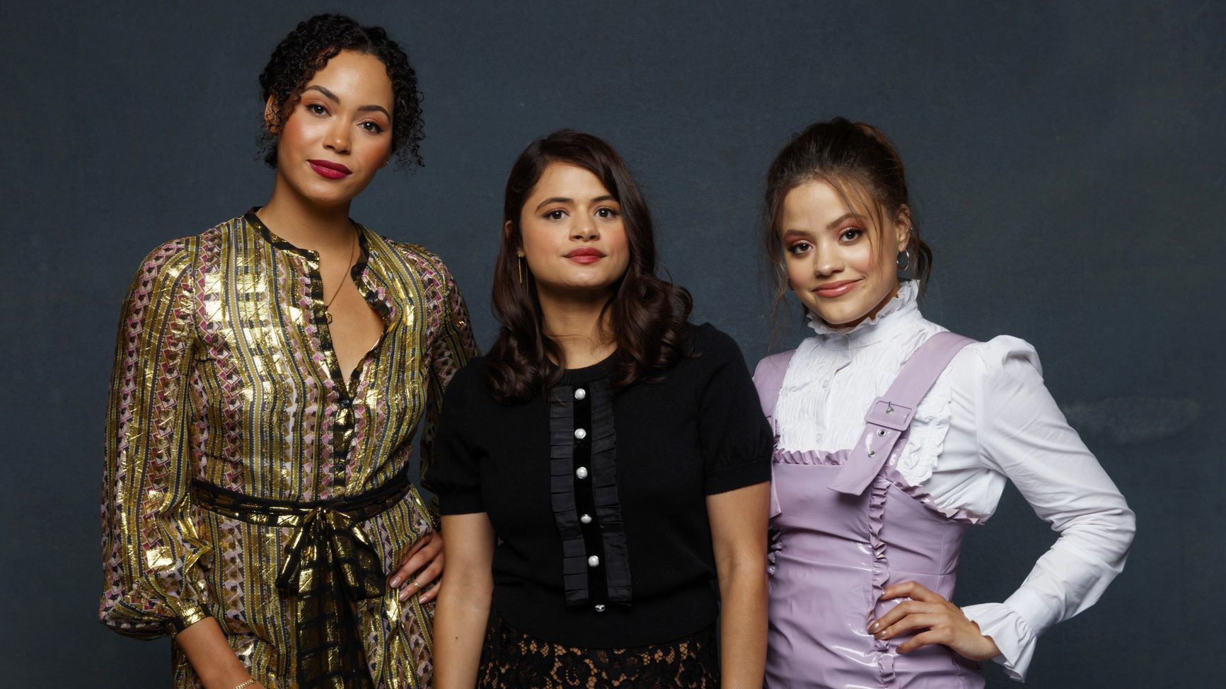 """Madeline Mantock, Melonie Diaz and Sarah Jeffery from the television series """"Charmed."""""""