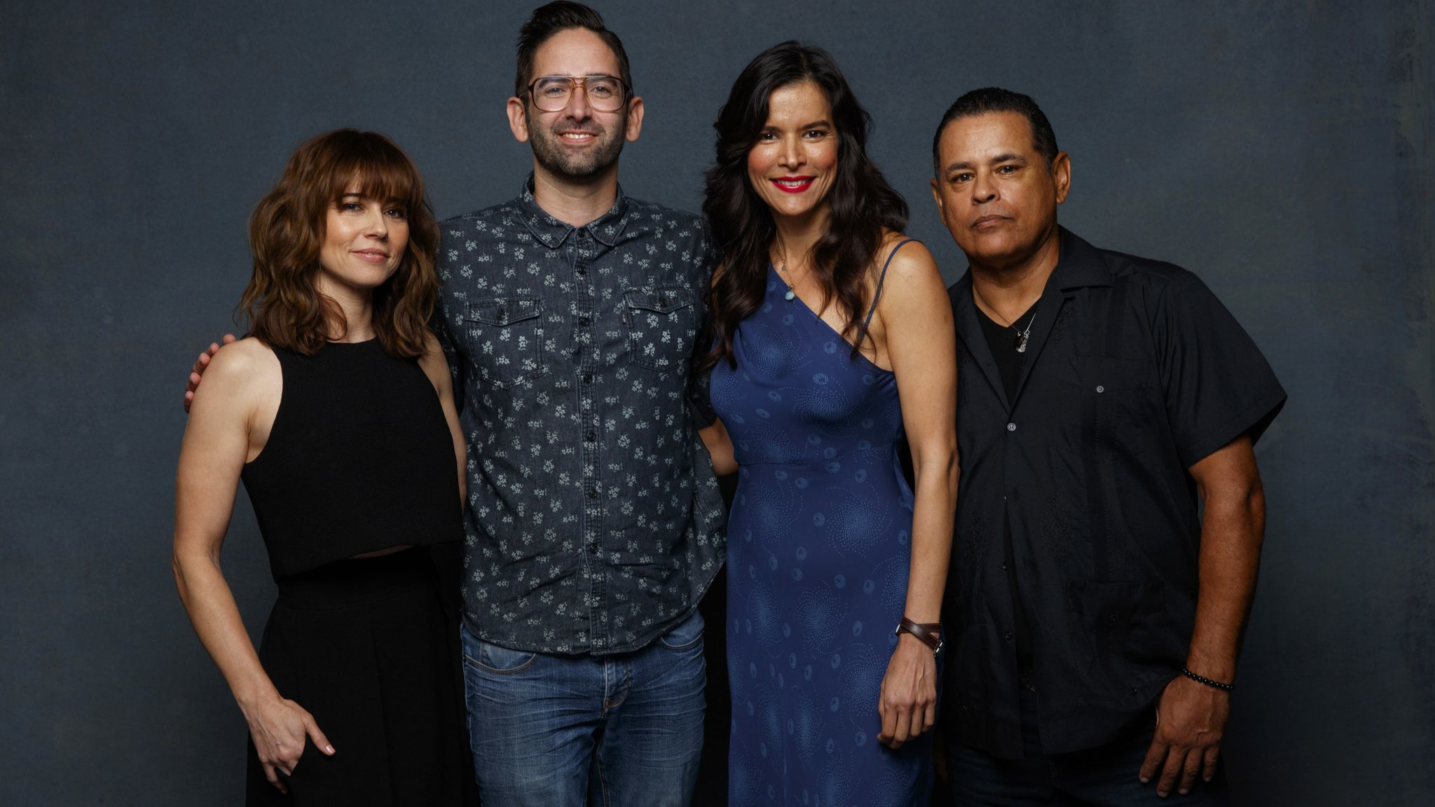 SAN DIEGO, CALIF. -- JULY 19, 2018-- (L-R)- Linda Cardellini, director Michael Chaves, Patricia Val
