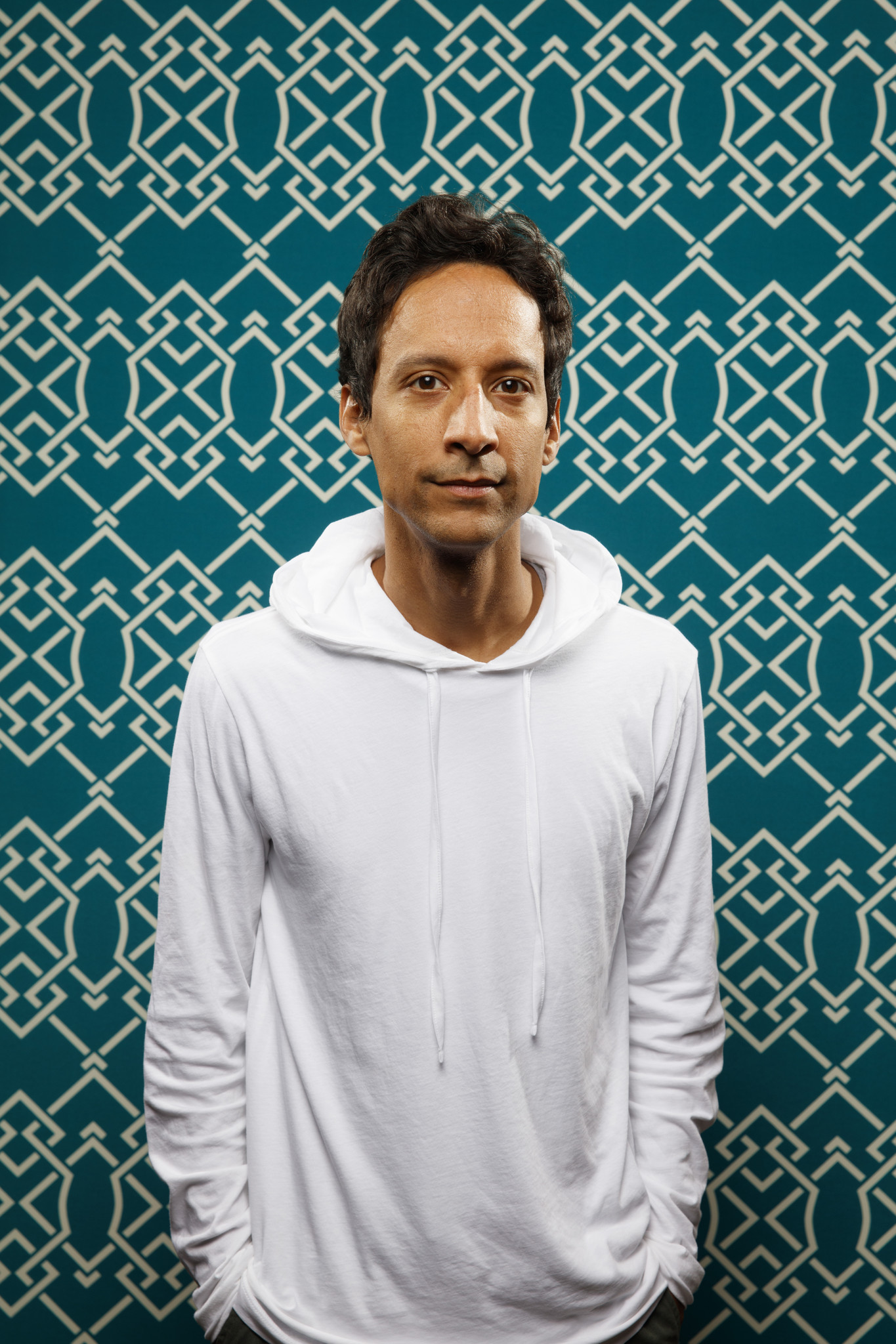 """SAN DIEGO, CALIF. -- JULY 20, 2018-- Danny Pudi from the television series """"Duck Tales,"""" photographe"""