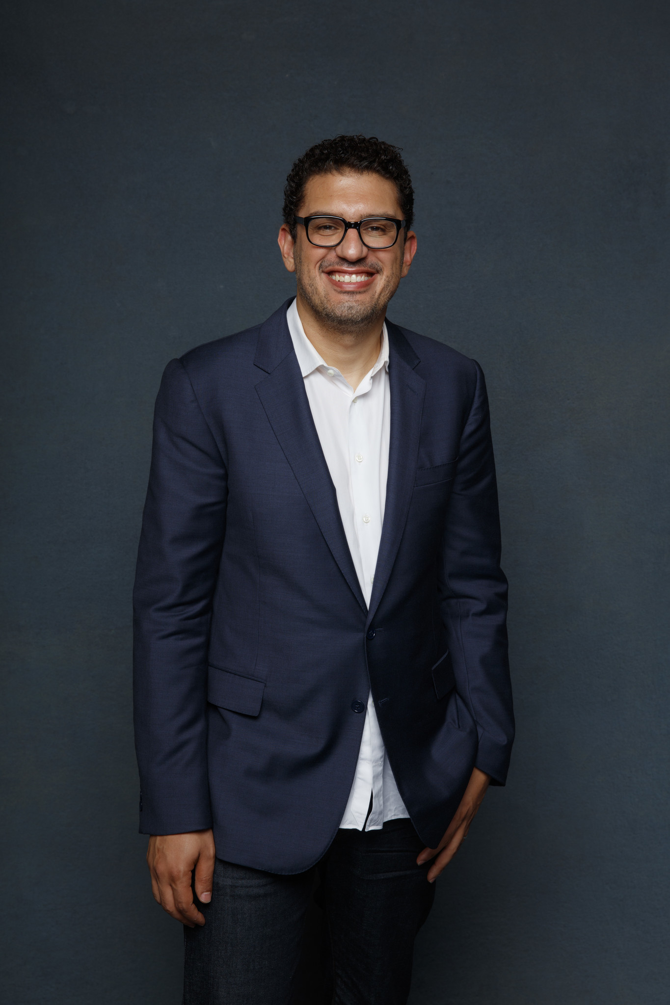 """SAN DIEGO, CALIF. -- JULY 20, 2018-- Sam Esmail from the television show """"Amazon Showrunners,"""" phot"""
