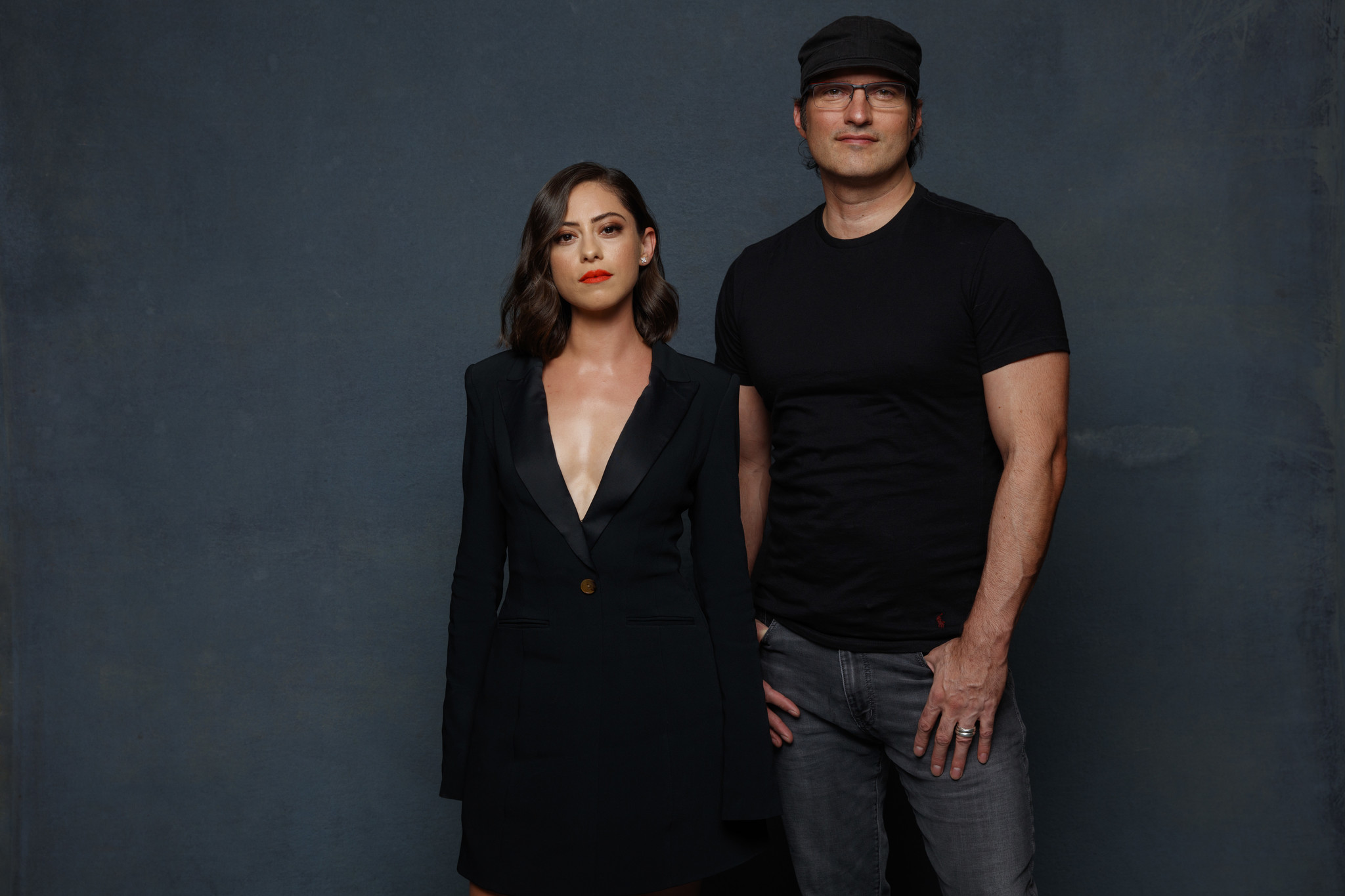 SAN DIEGO, CALIF. -- JULY 20, 2018-- (L-R)- Rosa Salazar and Director Robert Rodriguez from the film