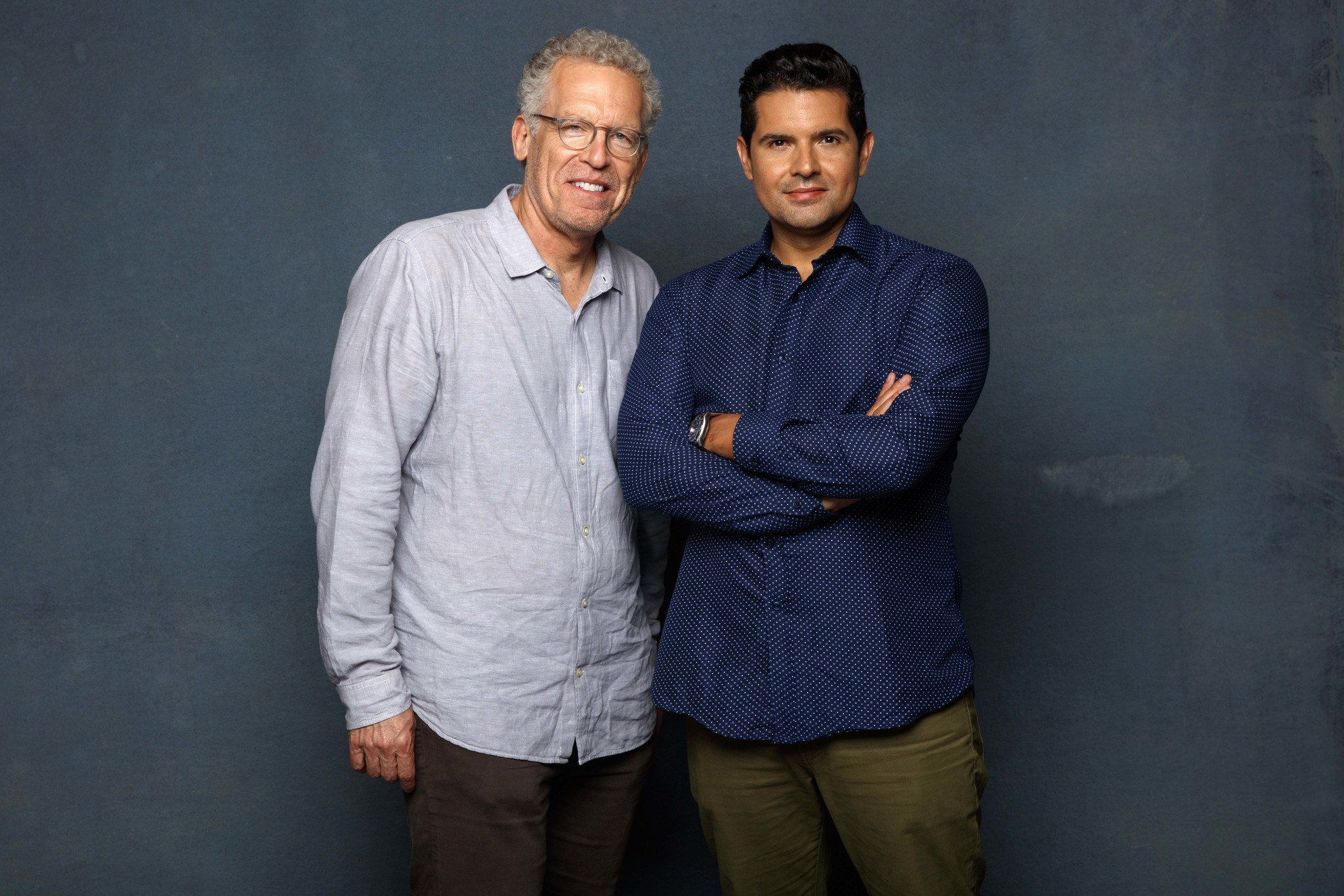 SAN DIEGO, CALIF. -- JULY 20, 2018-- (L-R) - Carlton Cuse and Graham Roland from the web television
