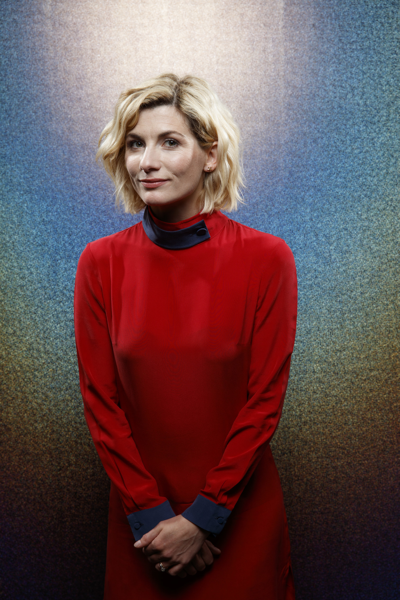 """SAN DIEGO, CALIF. -- JULY 21, 2018-- Jodie Whittaker from the television series """"Doctor Who,"""" photog"""