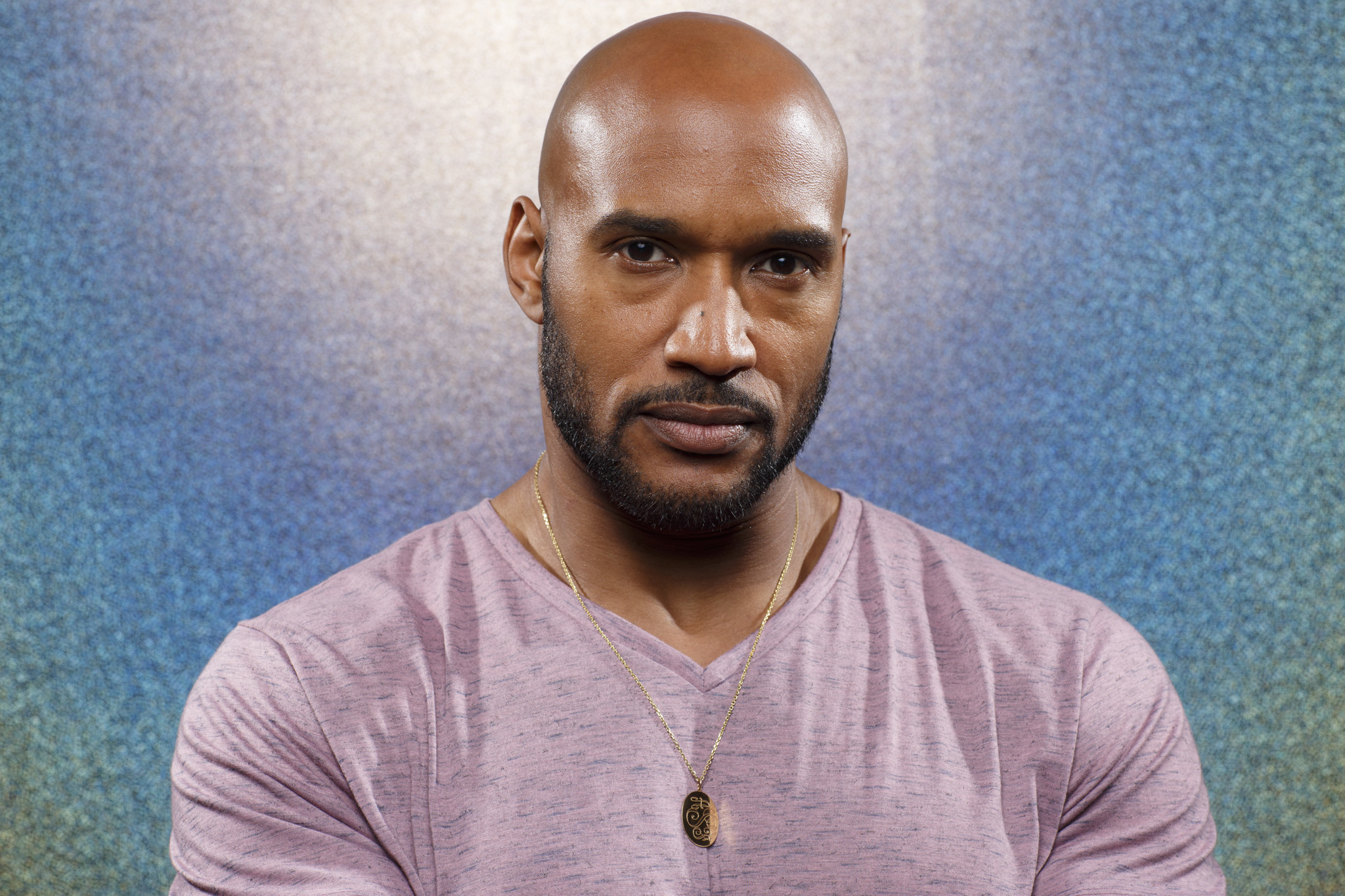 """SAN DIEGO, CALIF. -- JULY 21, 2018-- Henry Simmons from the television series """"Agents of SHIELD,"""" p"""