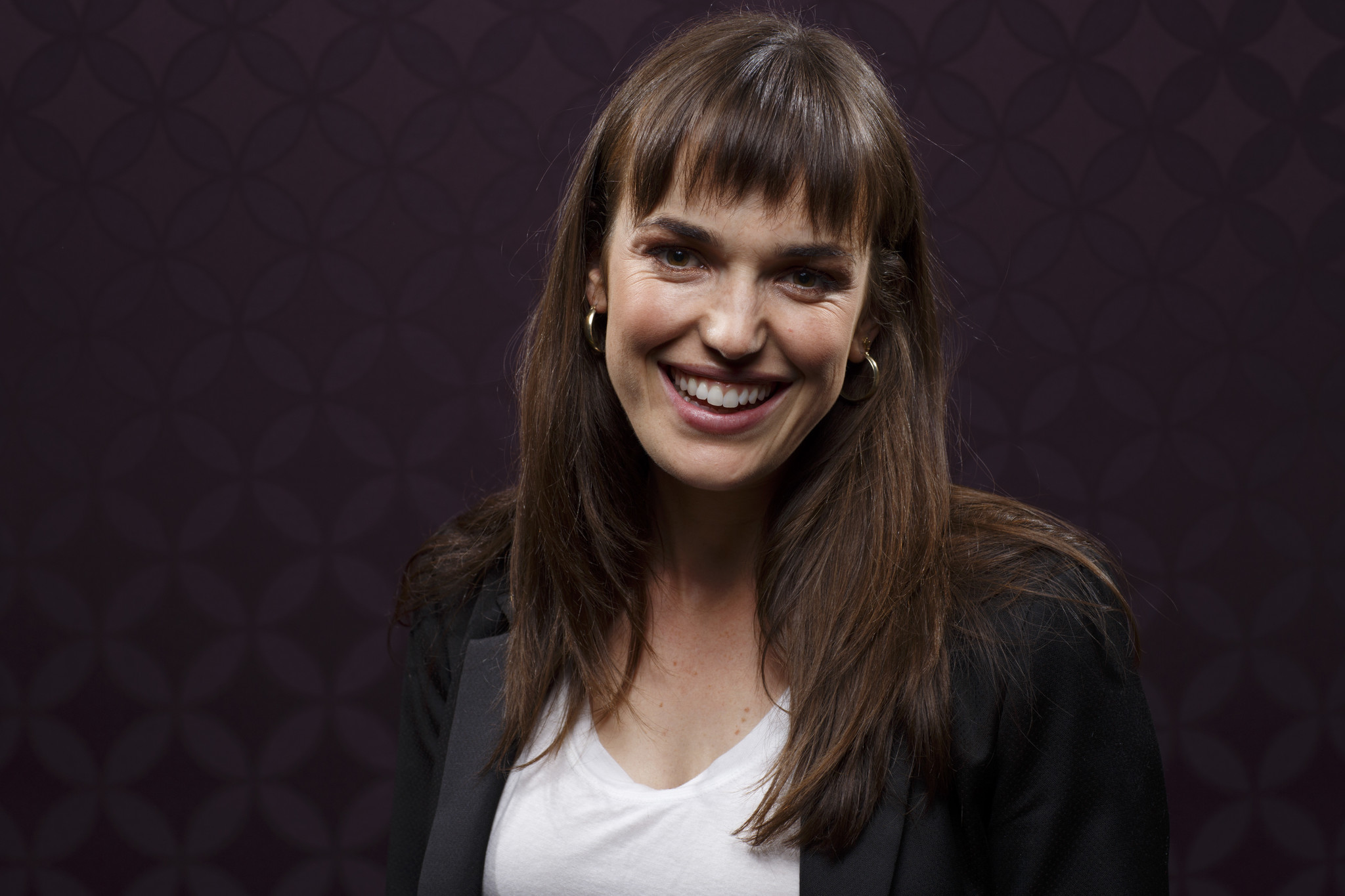 """SAN DIEGO, CALIF. -- JULY 21, 2018-- Elizabeth Henstridge from the television series """"Agents of SHIE"""