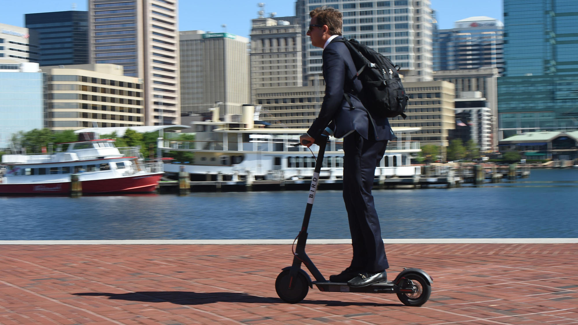 Electric Scooter Battery >> Bird electric scooters have landed in Baltimore. Now the city is trying to figure out how to ...