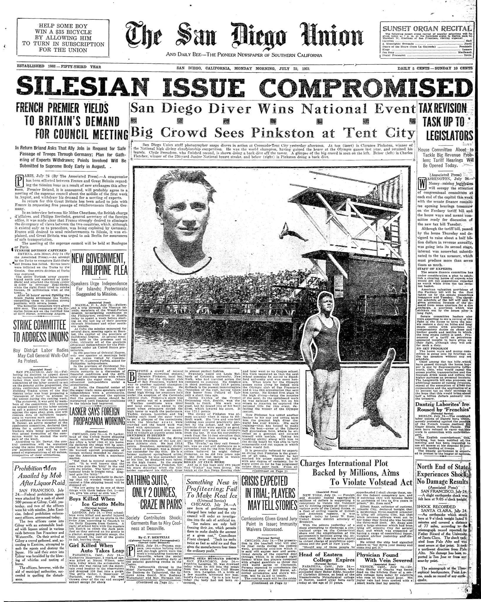 July 25, 1921