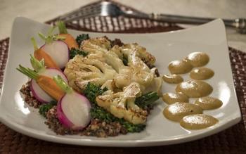 The Four Seasons' cauliflower steaks with black walnut quinoa and fragrant pear curry