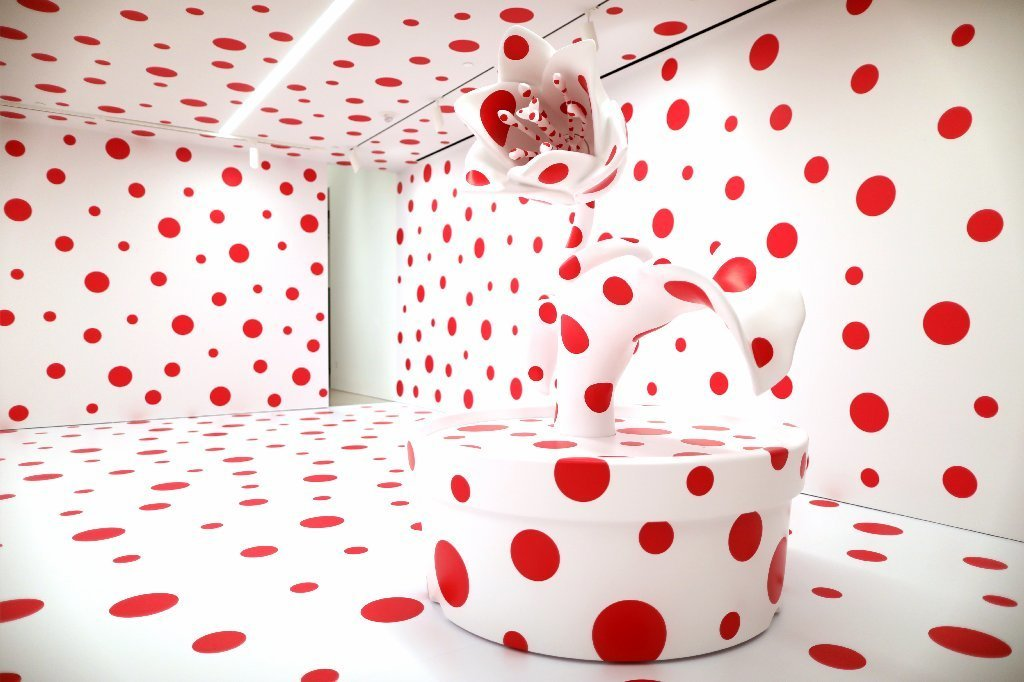 "The Marciano Art Foundation has acquired Yayoi Kusama's ""With All My Love for the Tulips, I Pray Forever"" (2011). The art work goes on view to the public Thursday."