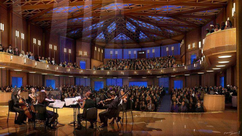 Artist's rendering of The Baker-Baum Concert Hall