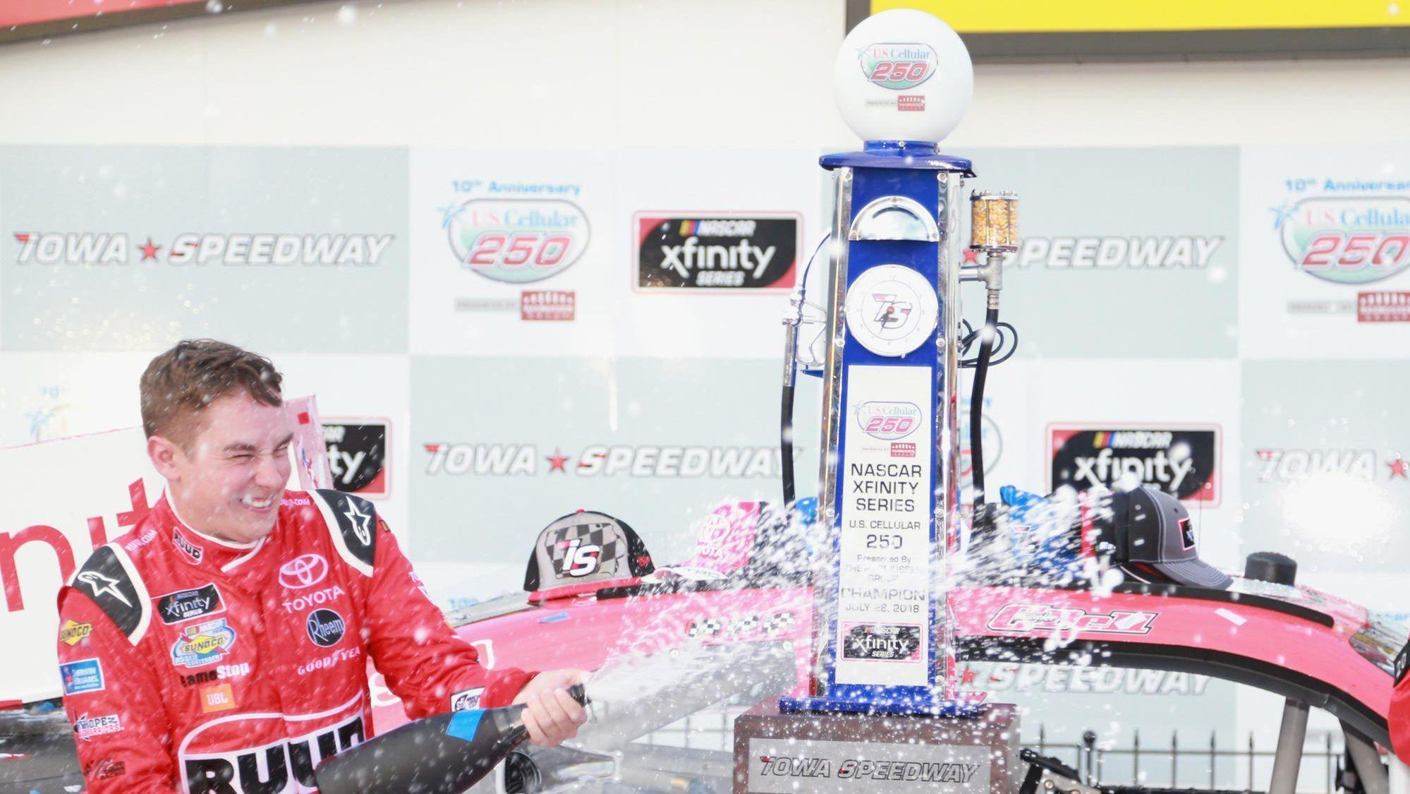 Motors: Christopher Bell races third straight NASCAR Xfinity victory