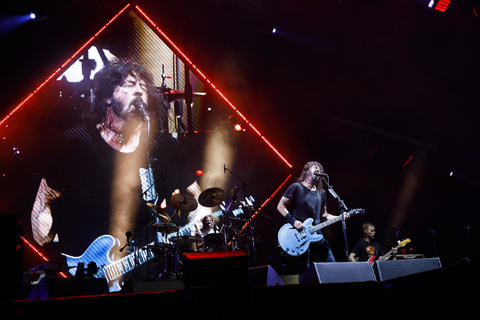 The Foo Fighters perform at Wrigley Field, July 29, 2018, in Chicago.