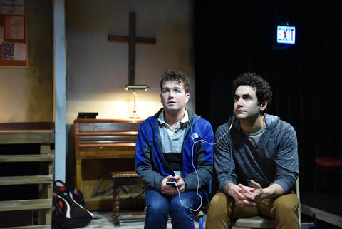 "Collin Quinn Rice and Raphael Diaz in ""The Harvest."""