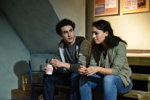 "Raphael Diaz and Paloma Nozicka in ""The Harvest."""
