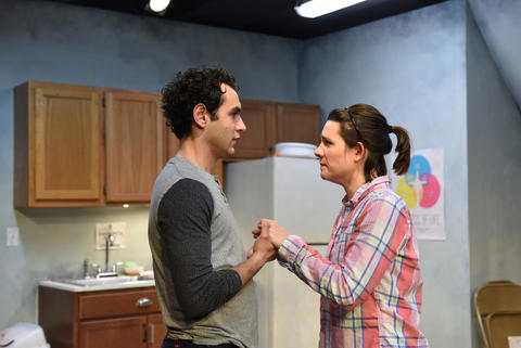 "Raphael Diaz and Kathryn Acosta in ""The Harvest."""