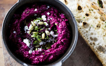 The Fat Dog's roasted beet hummus