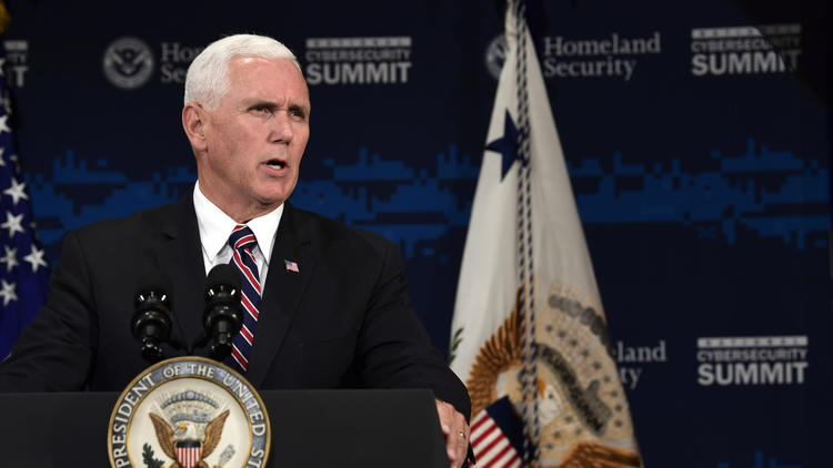 Pence condemns Russian election interference