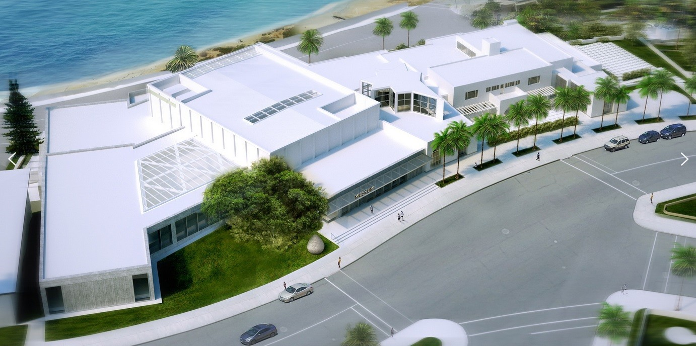 A pergola-free rendering of how the museum expects to look in 2020 includes a new entrance 100 feet to the south of the current one.