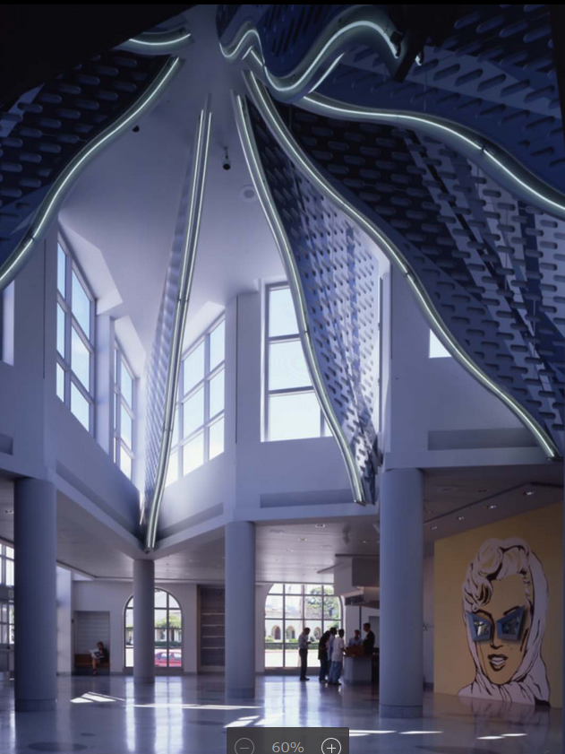 The dramatic Axline Court, created by VSB by roofing an open courtyard designed by the previous renovator, will remain but no longer serve as the museum's entrance.