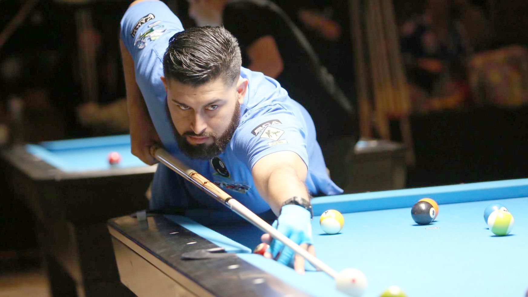 Substitue player Michael Quilo joins the Shenanigans pool team of Ramona in competing at the 2018 BCA Pool League World Championships.