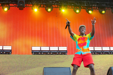 Tyler, the Creator performs on the Grant Park stage on Aug. 3, 2018.