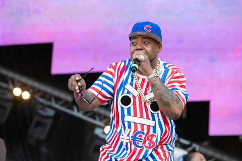 Chicago rapper Twista joins Taylor Bennett and his band onstage on Aug. 3, 2018.
