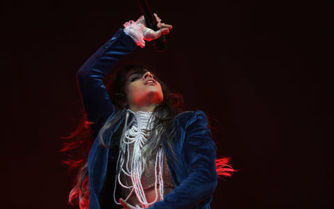Camila Cabello performs for the first time at Lollapalooza on Aug. 2, 2018.