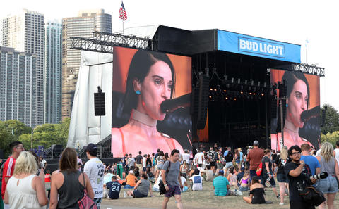 Annie Clark, also known as St. Vincent, performs at Lollapalooza Saturday, Aug. 4, 2018, in Chicago.