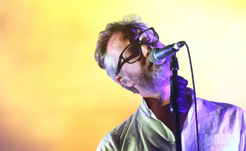 Matt Berninger of The National performs at Lollapaloozaon Aug. 3, 2018, in Chicago.