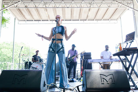 Grace Weber performs on the BMI stage, Saturday, August 4, 2018. (Kristan Lieb/For the Chicago Tribune)