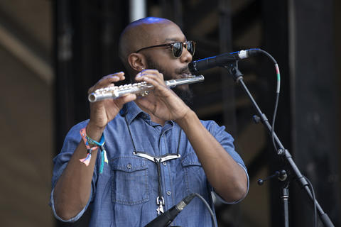 Durand Jones & The Indications performs at Lollapalooza Sunday, August 5, 2018, at Grant Park in Chicago.