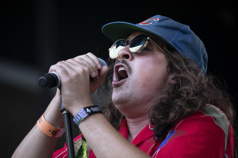 Knox Fortune performs on day four of Lollapalooza Sunday, August 5, 2018, at Grant Park in Chicago.
