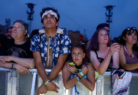 Fans wait for Jack White to perform Sunday, Aug. 5, 2018 at Lollapalooza in Grant Park.