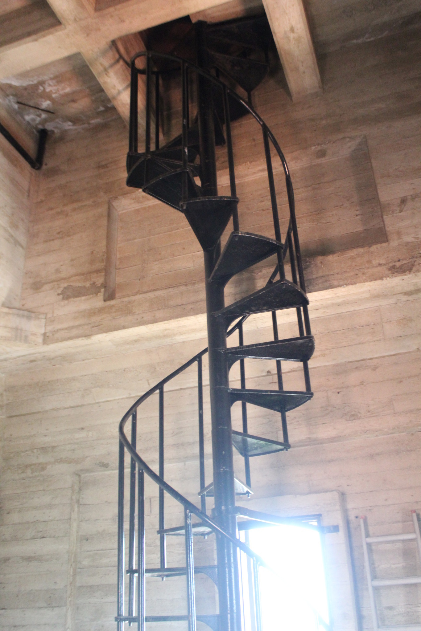 No more than 100 people have probably ever used the wrought-iron staircase winding inside the bell tower at St. James by-the-Sea Church.