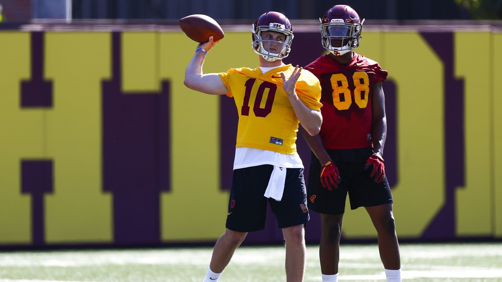 USC coaches want quarterbacks to understand the concept of self preservation